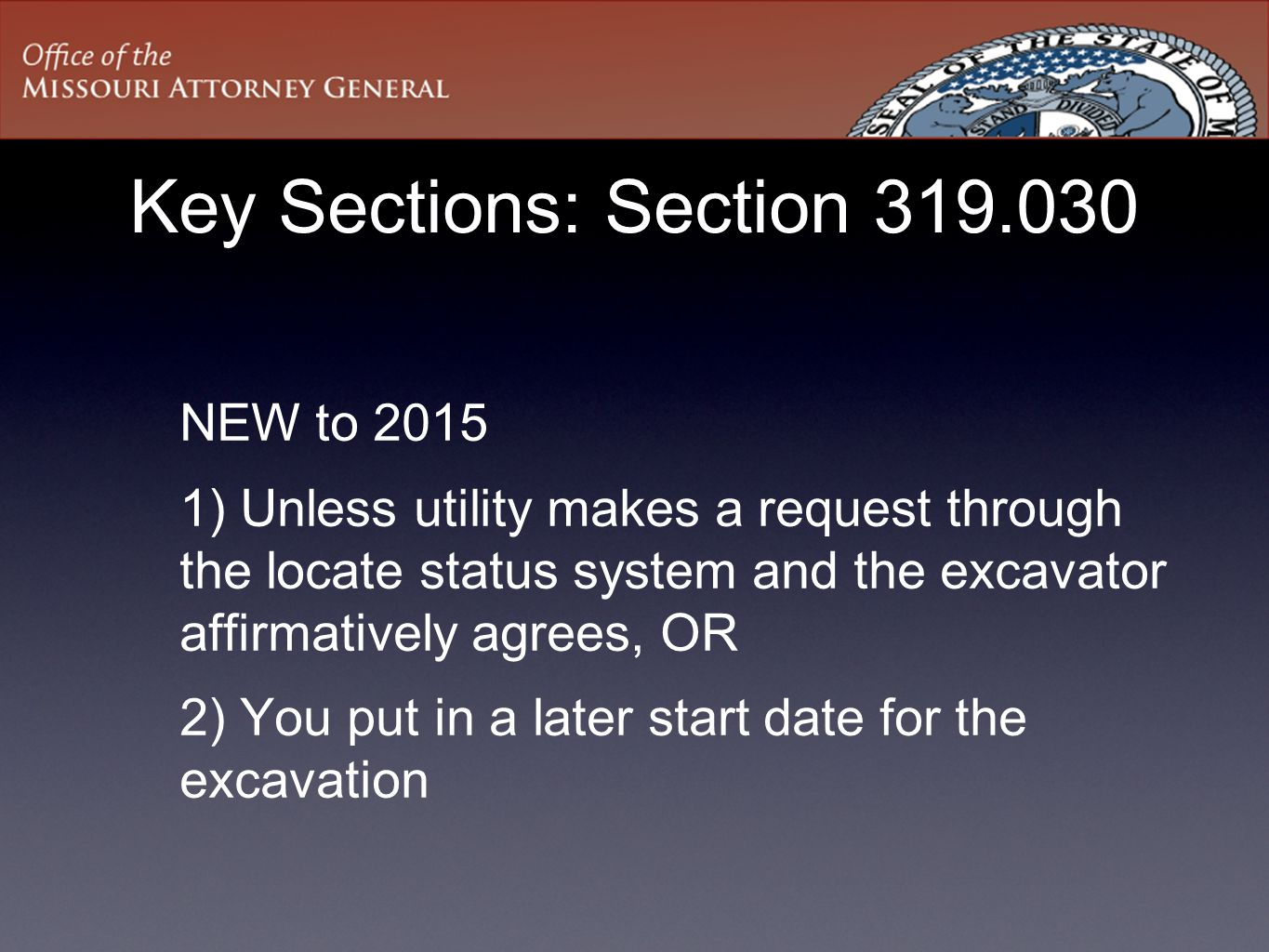 Key Sections: Section 319.030
