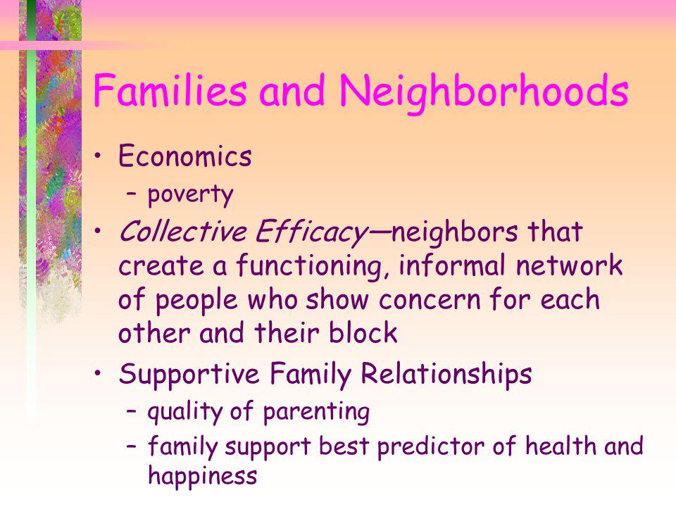 Families and Neighborhoods