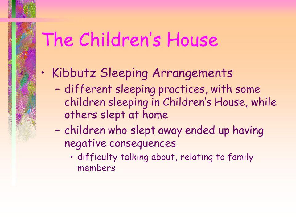 The Children's House Kibbutz Sleeping Arrangements