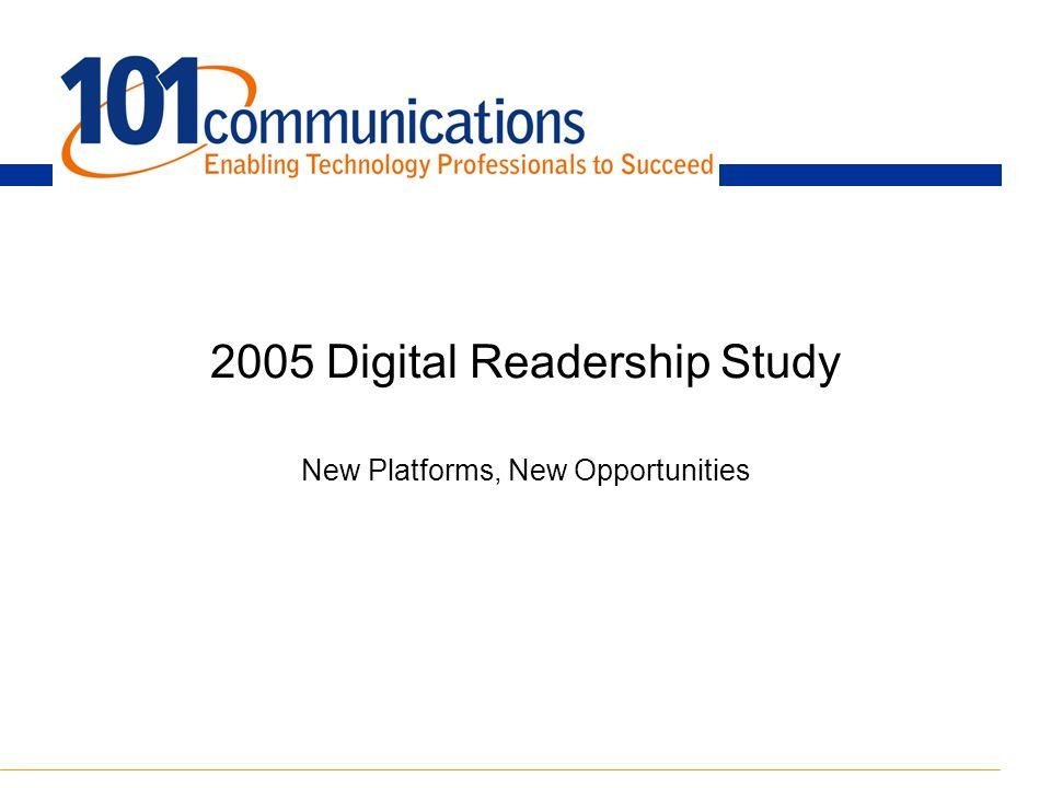 2005 Digital Readership Study