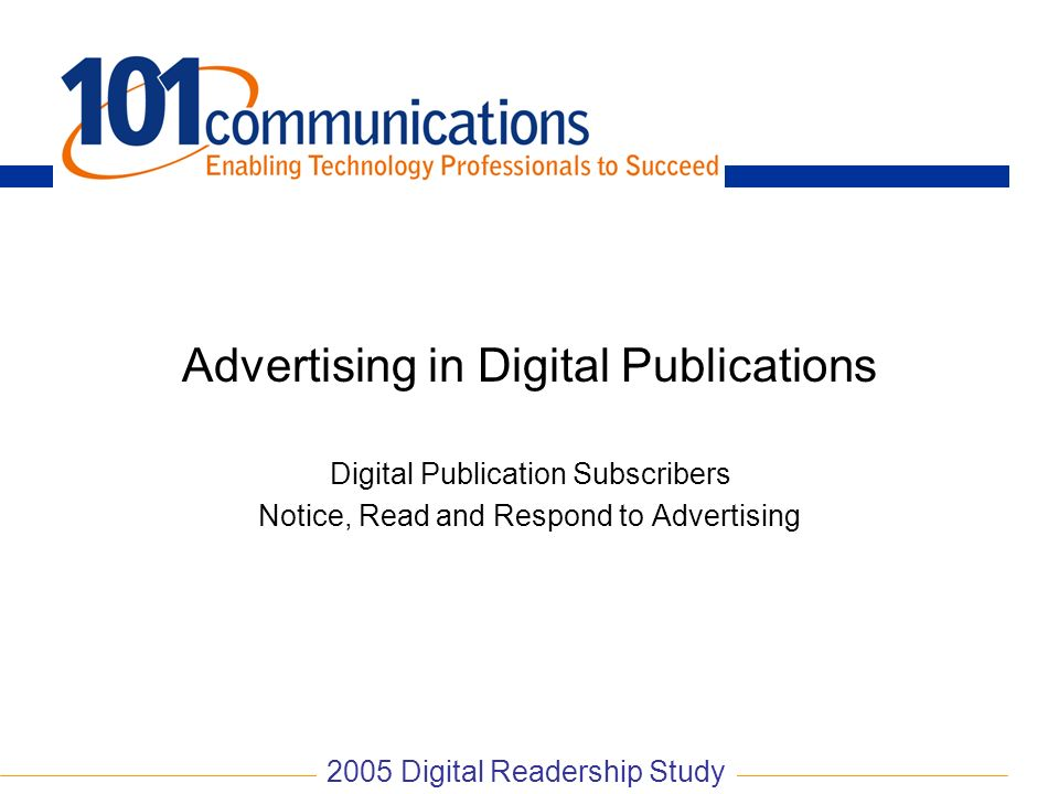 Advertising in Digital Publications