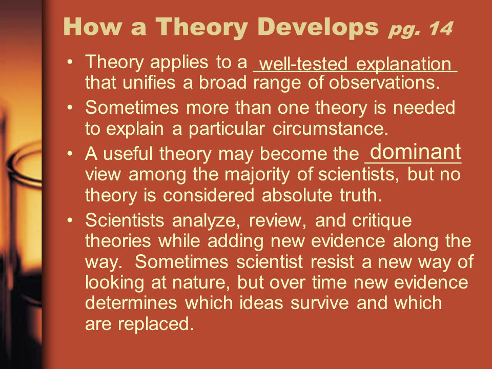 How a Theory Develops pg. 14