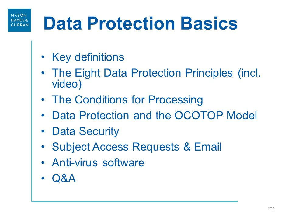Data Protection Basics