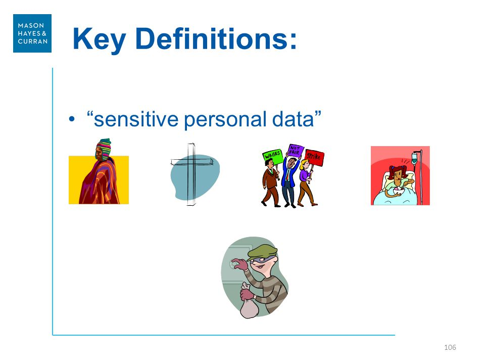 Key Definitions: sensitive personal data