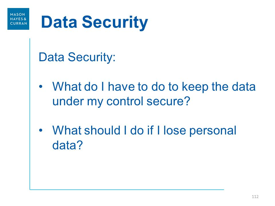 Data Security Data Security: