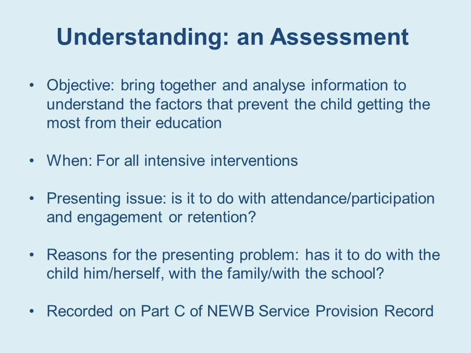 Understanding: an Assessment