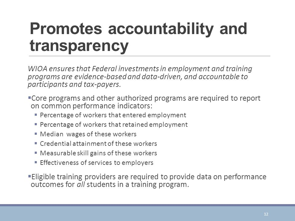 Promotes accountability and transparency