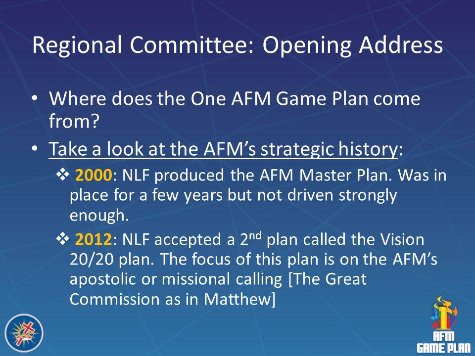 Regional Committee: Opening Address