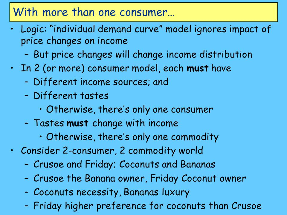 With more than one consumer…