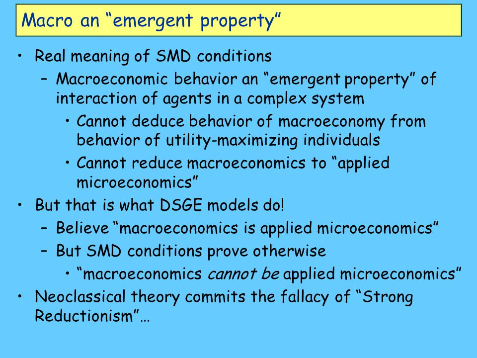 Macro an emergent property
