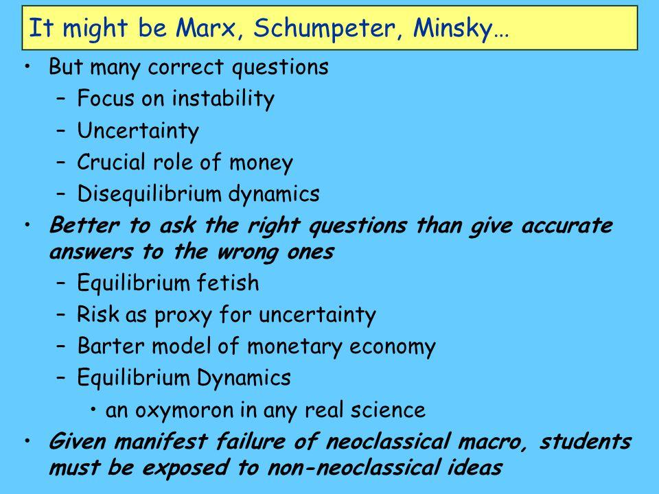 It might be Marx, Schumpeter, Minsky…