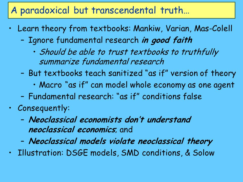 A paradoxical but transcendental truth…