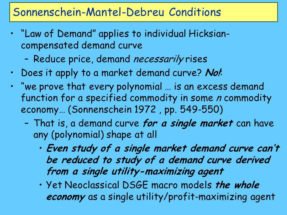 Sonnenschein-Mantel-Debreu Conditions