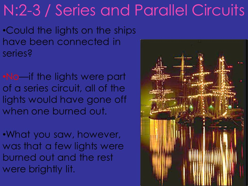 N:2-3 / Series and Parallel Circuits