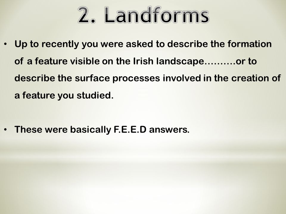 2. Landforms