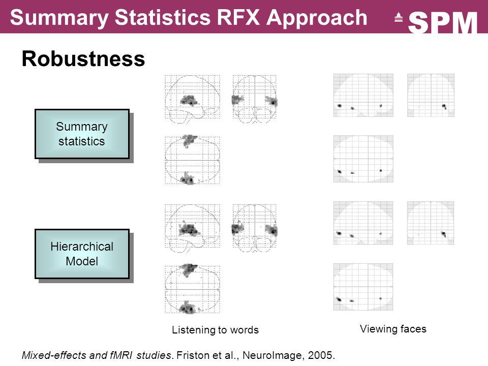 Summary Statistics RFX Approach