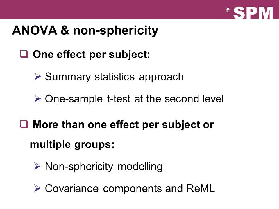ANOVA & non-sphericity