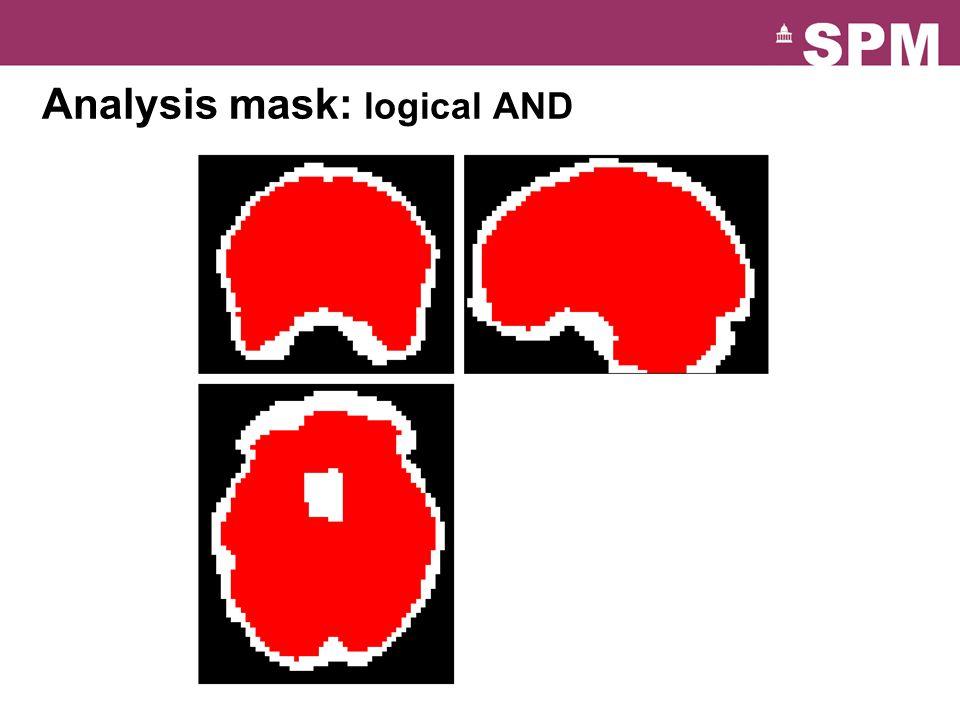 Analysis mask: logical AND