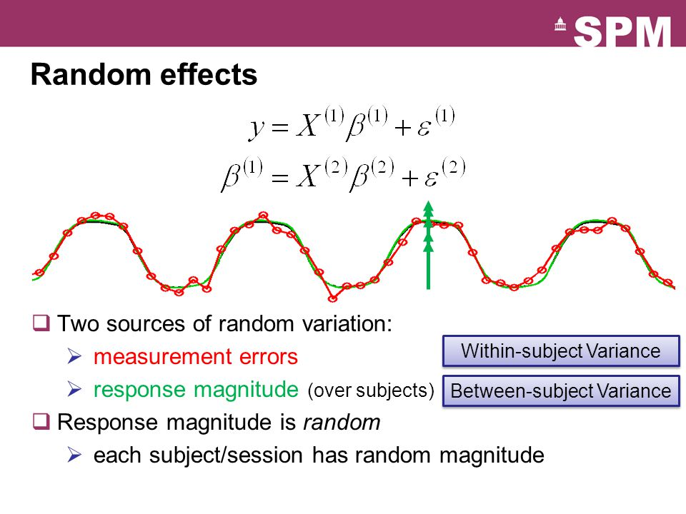 Random effects Two sources of random variation: measurement errors