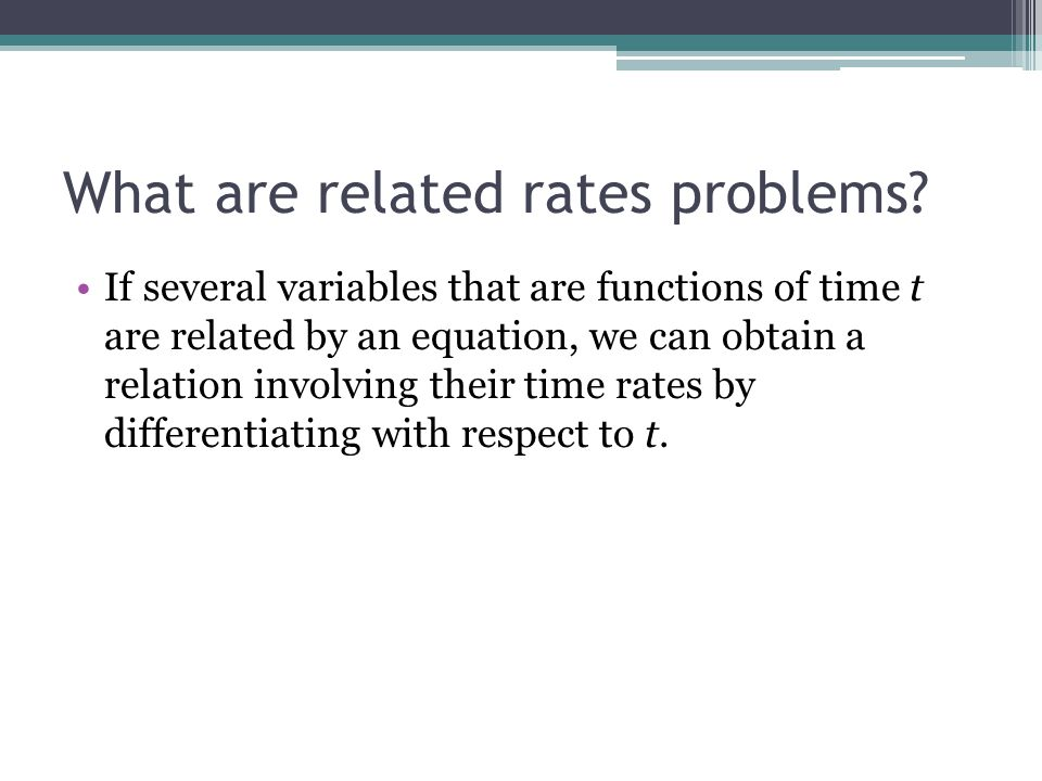 What are related rates problems
