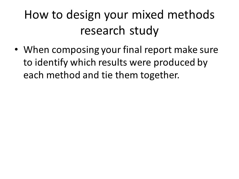 how to identify the study design
