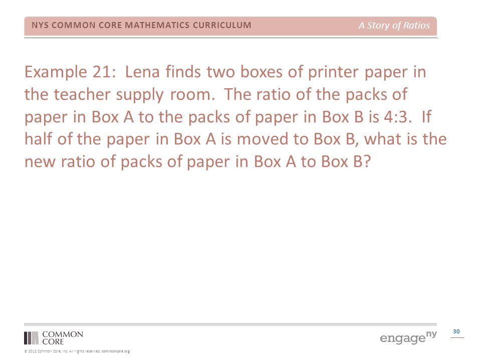 Example 21: Lena finds two boxes of printer paper in the teacher supply room.