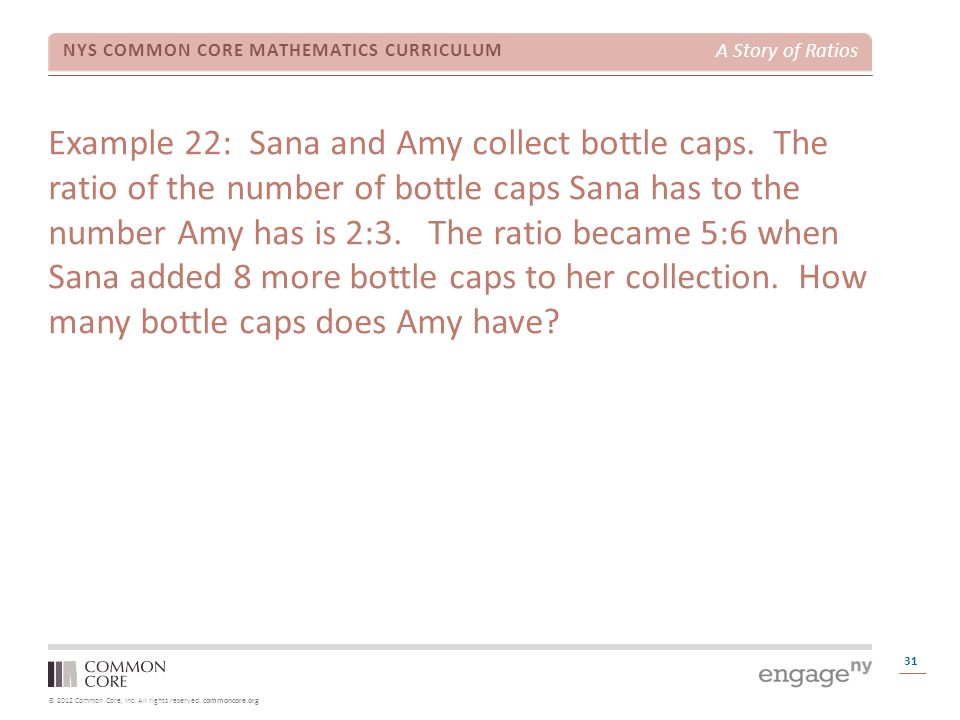 Example 22: Sana and Amy collect bottle caps