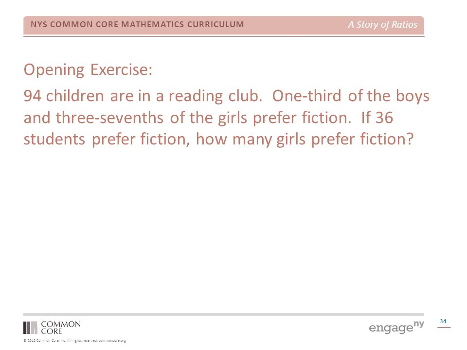 Opening Exercise: 94 children are in a reading club