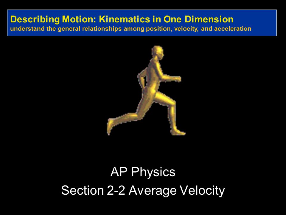 AP Physics Section 2-2 Average Velocity