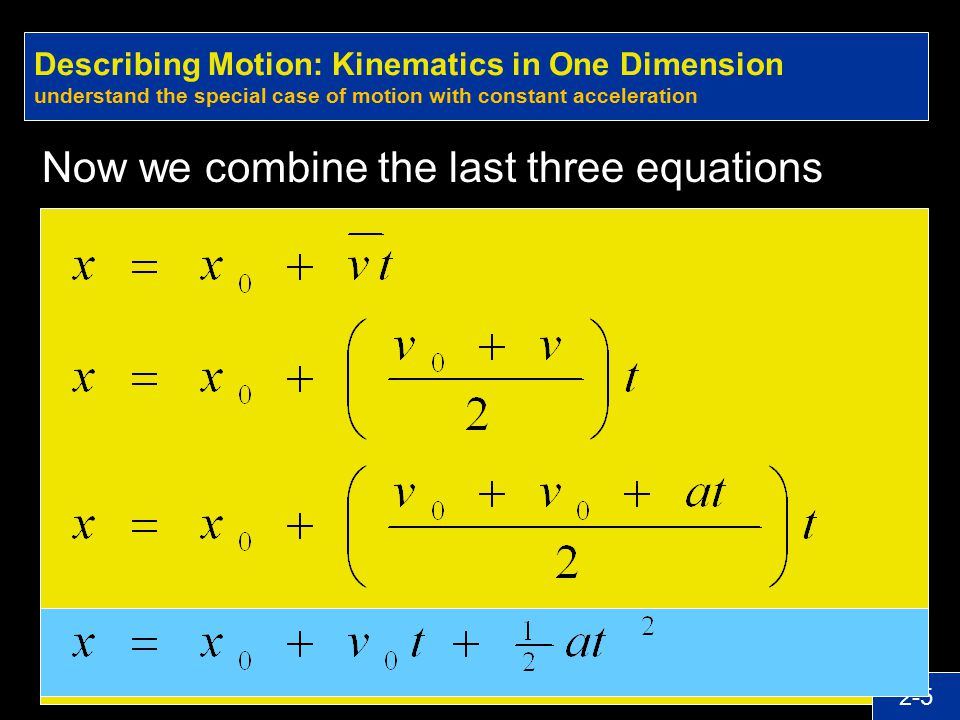Now we combine the last three equations