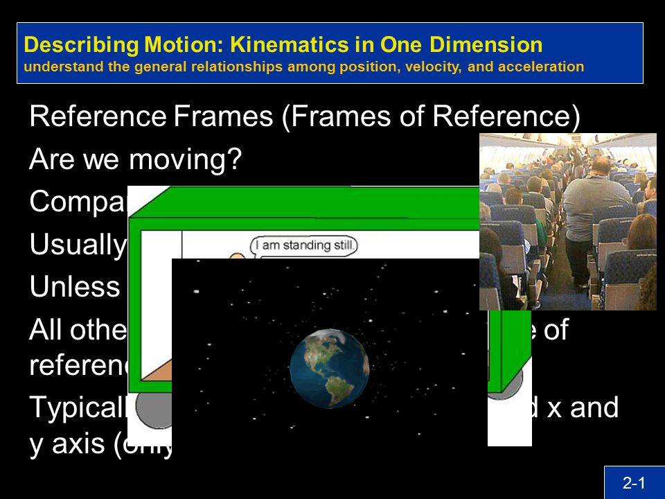 Reference Frames (Frames of Reference) Are we moving