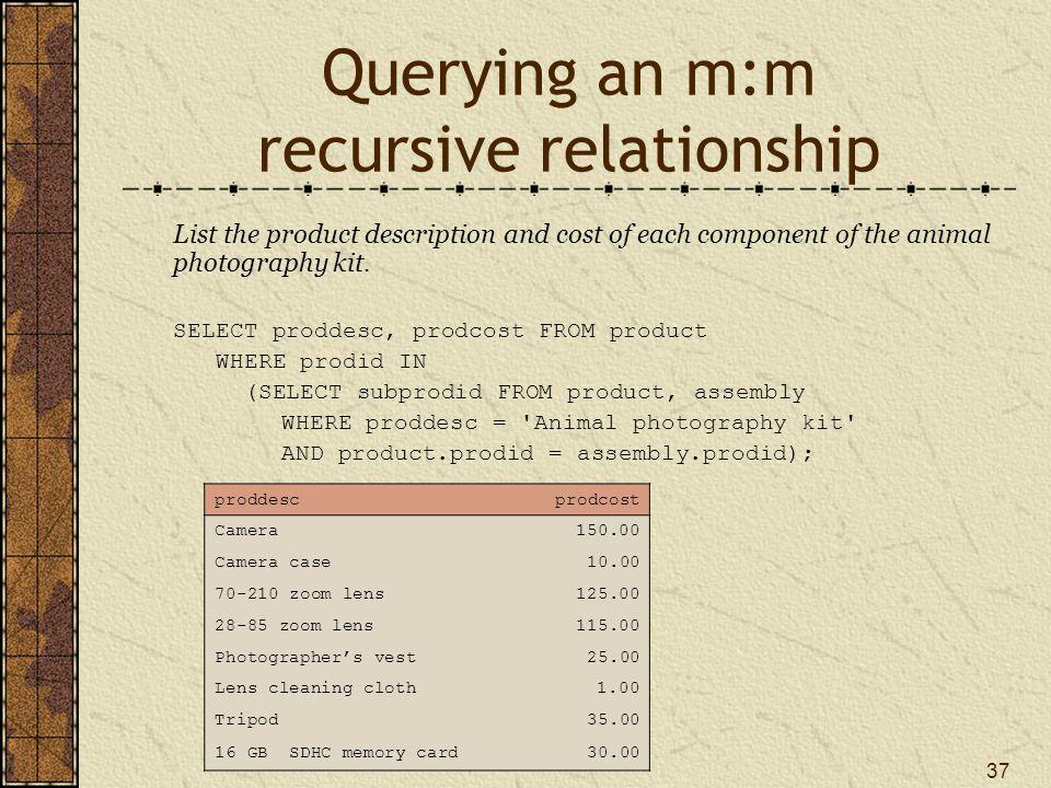 Querying an m:m recursive relationship