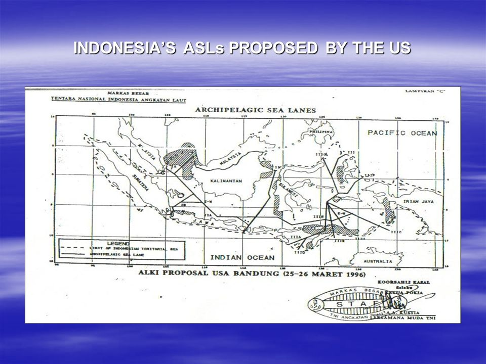 INDONESIA'S ASLs PROPOSED BY THE US