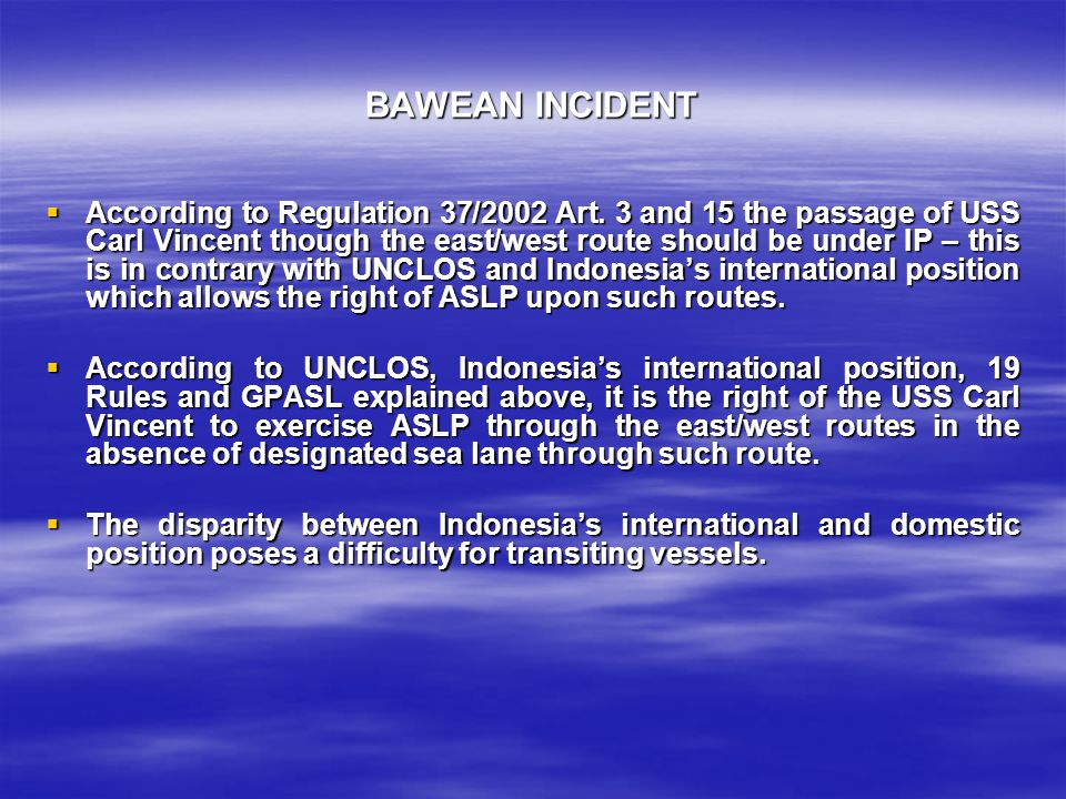 BAWEAN INCIDENT