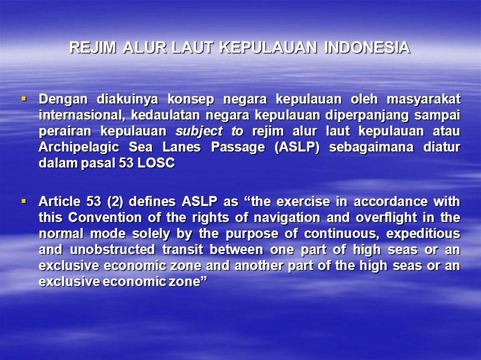 REJIM ALUR LAUT KEPULAUAN INDONESIA