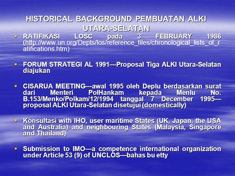 HISTORICAL BACKGROUND PEMBUATAN ALKI UTARA-SELATAN