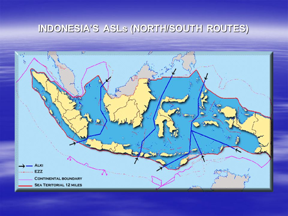 INDONESIA'S ASLs (NORTH/SOUTH ROUTES)