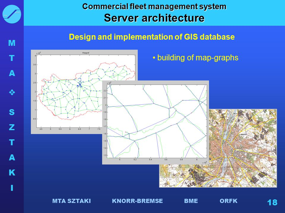 Server architecture Commercial fleet management system
