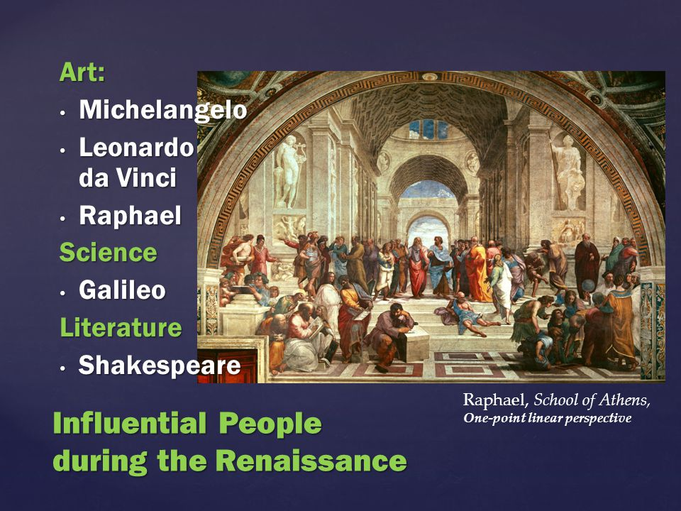 Influential People during the Renaissance