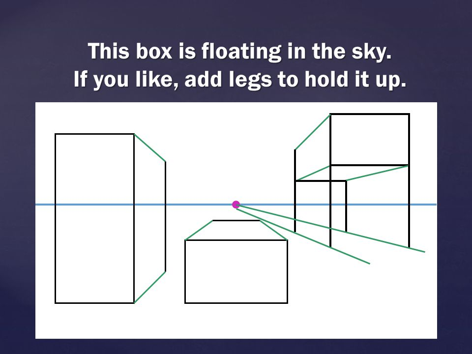 This box is floating in the sky. If you like, add legs to hold it up.