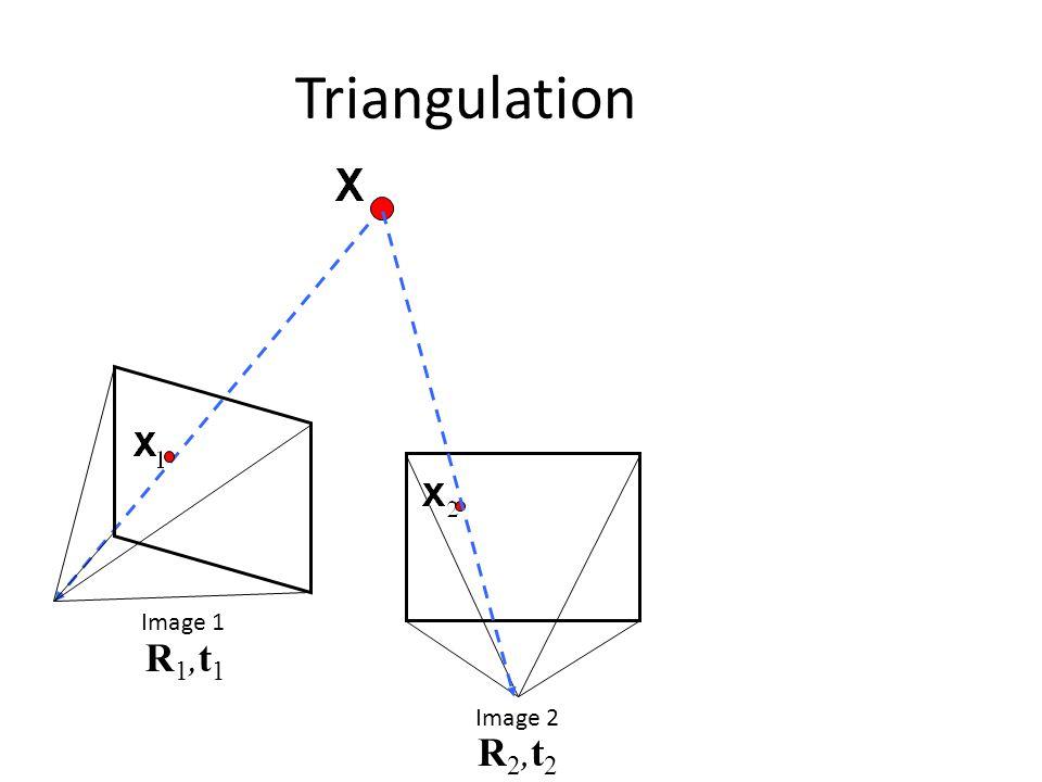 Triangulation Image 1 R1,t1 Image 2 R2,t2