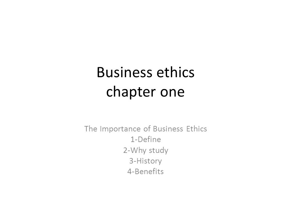 Why is business ethics important?