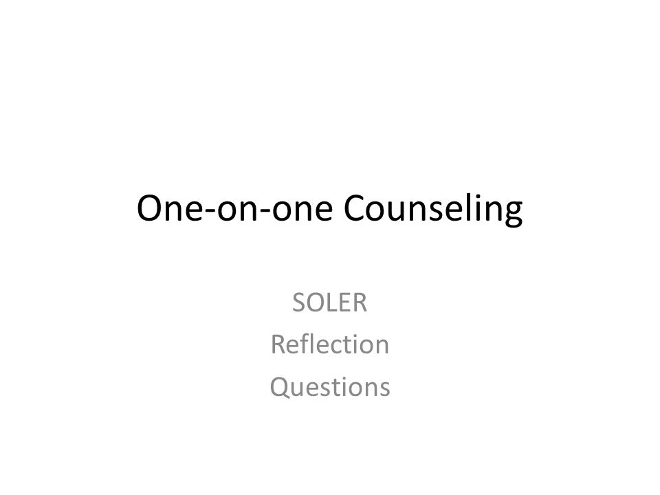 One-on-one Counseling