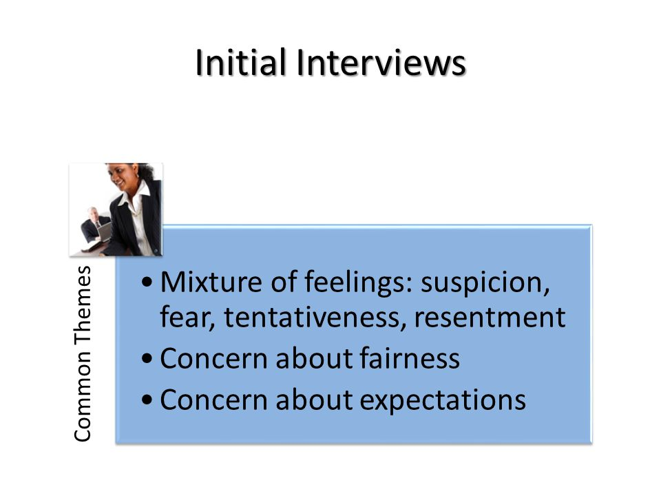Initial Interviews Common Themes