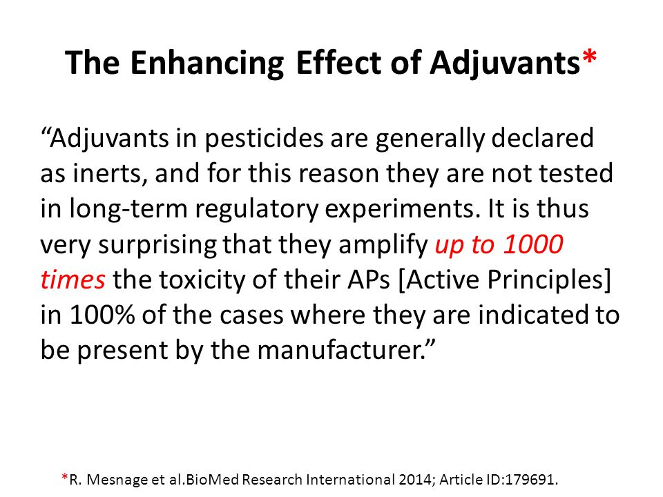 The Enhancing Effect of Adjuvants*