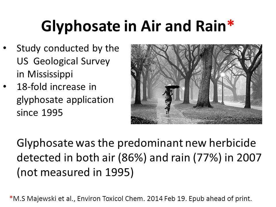 Glyphosate in Air and Rain*