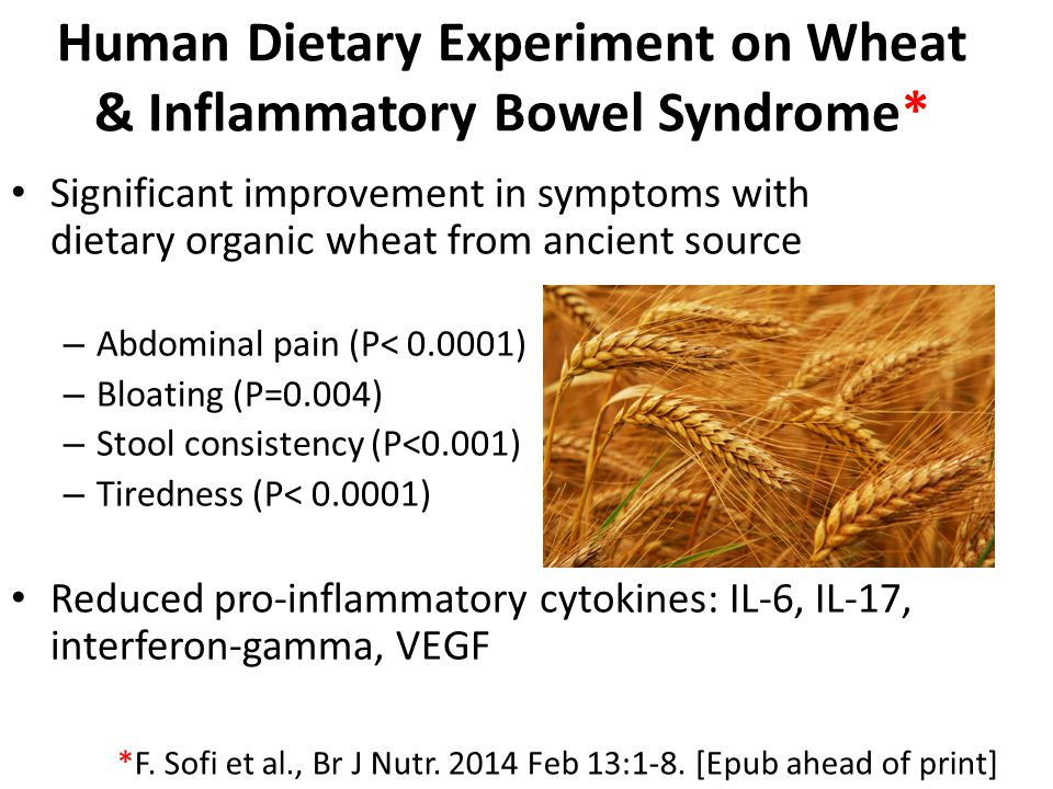 Human Dietary Experiment on Wheat & Inflammatory Bowel Syndrome*