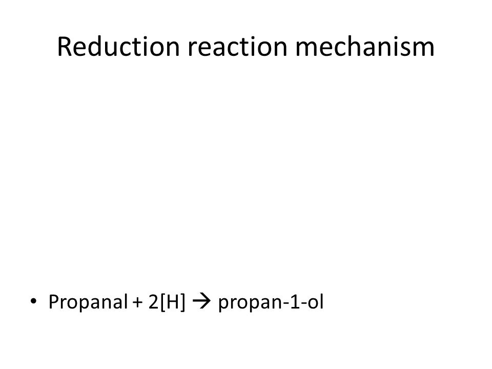 Reduction reaction mechanism