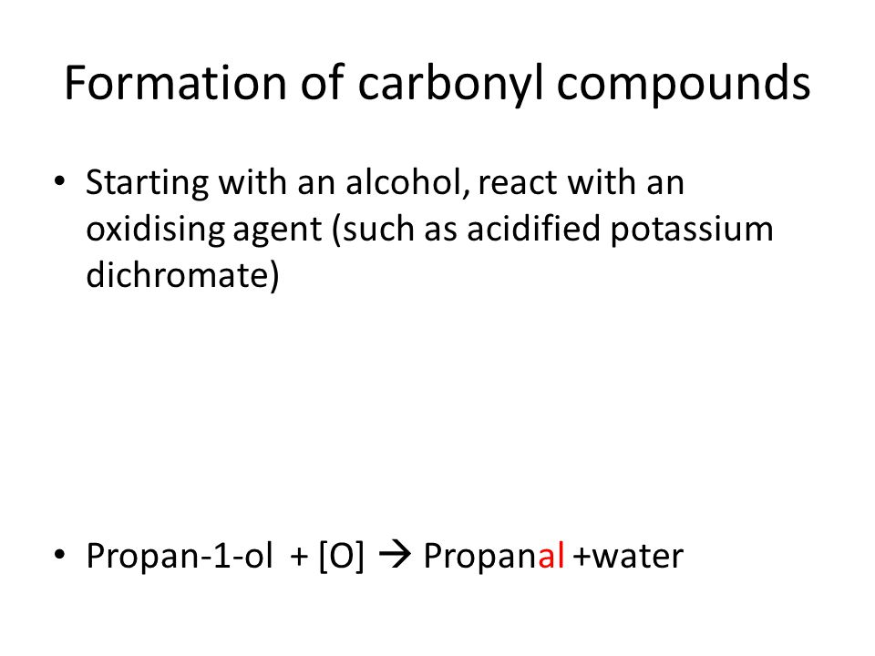 Formation of carbonyl compounds