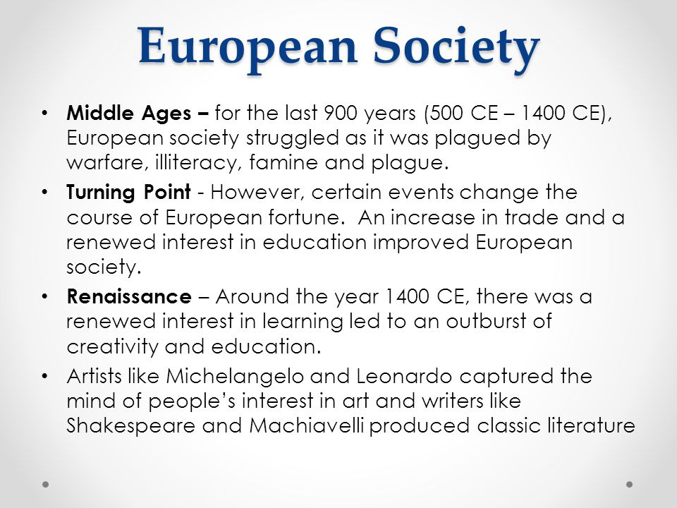 European Society